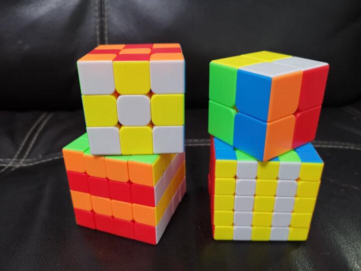 圣手异形魔方套装8件组合礼盒装儿童男女孩玩具三阶镜面金字塔斜转SQ1五魔方 黑色 晒单图