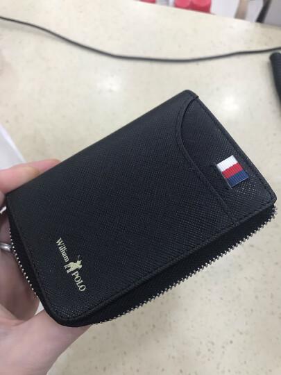 英皇保罗POLO卡包男士真皮复古卡片包多卡位卡套迷你小零钱包银行卡夹驾驶证套 卡其色 晒单图