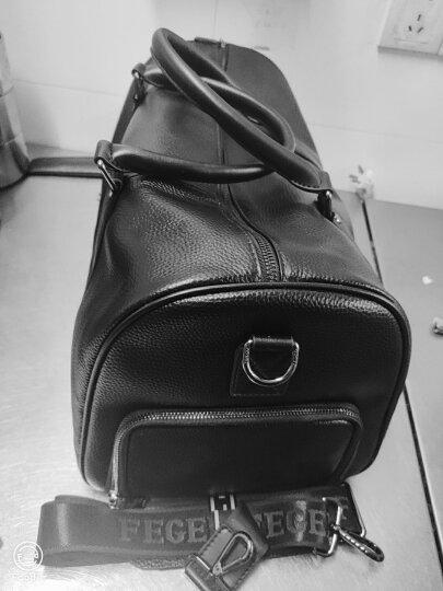 斐格男士旅行包手提真皮男女旅行袋大容量行李包出差运动健身包单肩包男包 黄棕色升级(加大版) 送手包 晒单图