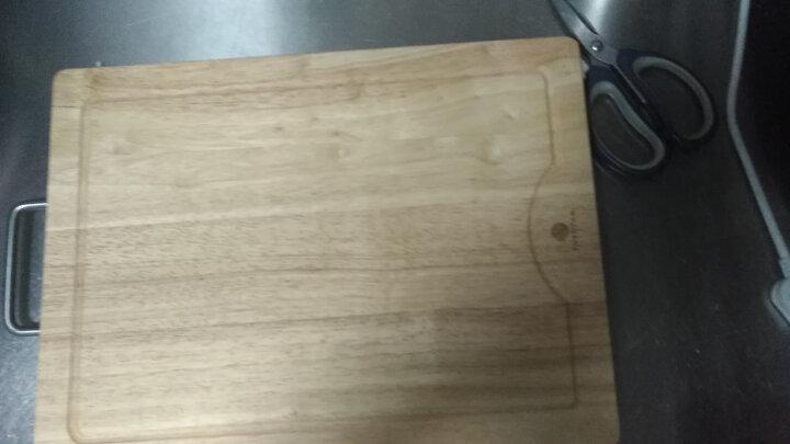 原森太 实木 菜板 木 砧板 切菜板 加厚粘板 刀板 面板 厨房家用 长方形案板大中小号 中号40X30X3橡胶木菜板3CM 晒单图