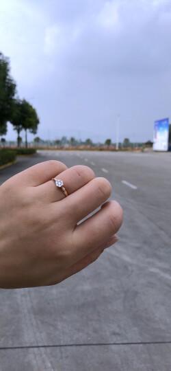 Leysen莱绅通灵珠宝 钻石女戒 翠贝卡的星愿18K金群镶钻戒 18K白 15号 晒单图