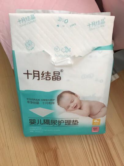 十月结晶纸尿裤伴侣婴儿一次性隔尿垫宝宝尿垫巾新生儿护理垫防水床单不可洗 小号10片装33*45 晒单图