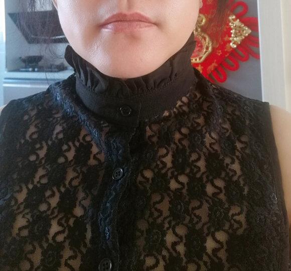 假领子女蕾丝百搭立领甜美假衬衫领子女春秋新款毛衣装饰领衬衣领 白色蕾丝花苞领 晒单图