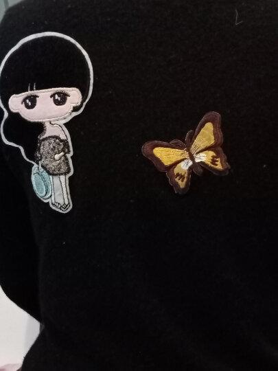 FASTSO尚透社BT109 小女孩卡通布贴衣服补丁大号补丁贴布T恤毛衣包包装饰贴花 18#背带裤女孩 小 晒单图