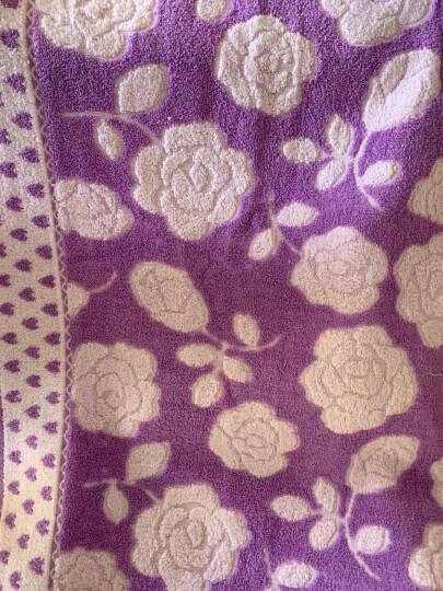 沐凡 枕巾 纯棉加厚 一对2条装柔软透气全棉卡通情侣枕头巾礼品 桃心花朵蓝色一对 50*75cm 晒单图