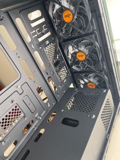 爱国者(aigo)炫影黑京东特别版 电脑机箱(配3把发光风扇/支持ATX主板/蜂窝玻璃面板/背线) 晒单图