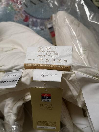 富安娜家纺  100%澳洲羊毛被子冬天全棉纯棉保暖加厚春秋羊毛被芯 澳洲羊毛被-第三代 203X229cm(1.5/1.8米床适用) 晒单图