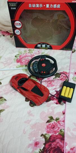 学智善重力感应方向盘四通无线遥控新款法L拉利儿童玩具充电小汽车跑车赛车仿真模型摇控玩具车 四通道新款法拉L红色 晒单图