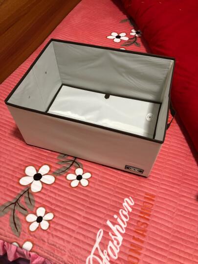 佳佰 收纳箱 衬衣裤子整理箱 内置厚纸板带可折叠防尘盖 牛津布可折叠布艺整理收纳箱 晒单图