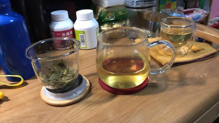 美斯尼 加厚玻璃茶杯茶具竹盖带把手茶水分离杯子过滤网不锈钢内盖耐高温加热男女士玻璃大号马克杯三件套装 380毫升 晒单图