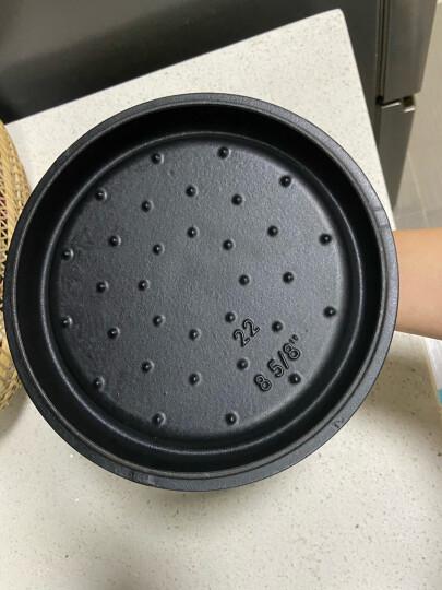 网易严选  传世珐琅锅 铸铁搪瓷炖锅煲汤锅 22cm直火电磁炉通用锅具 豆咖棕 晒单图