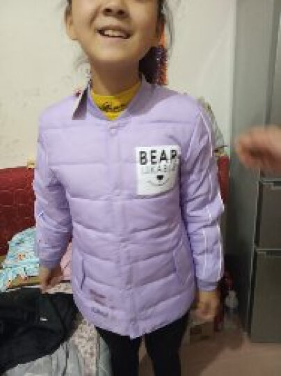 南极人 (nanjiren)儿童羽绒服秋冬新款女童羽绒内胆青少年中大童羽绒上衣 玫红小女孩(单件) 150尺码适合身高1米4左右 晒单图