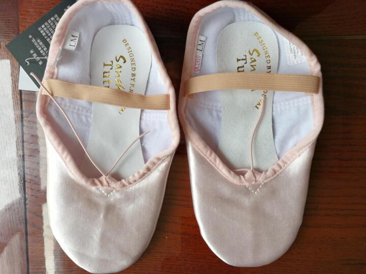 三沙(sansha) 芭蕾舞鞋软底女儿童练功鞋缎面公主软鞋女一片底 NO.4S 金色 26 晒单图