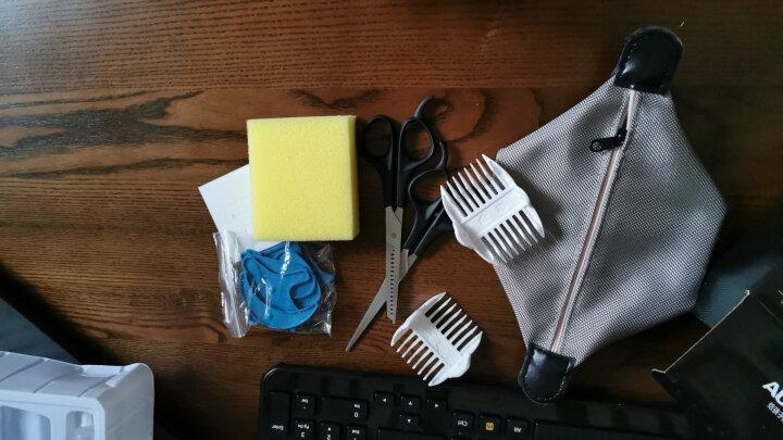 奥克斯(AUX)婴儿理发器电动推剪 超静音宝宝电推子小孩剃光头刀剪头发器儿童剃头剪发器充电式全身水洗 湖蓝(送双剪刀) 晒单图