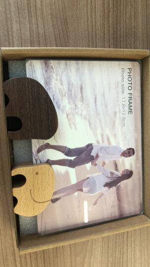 初心(CHOSIN)实木相框摆台创意婚纱照画框7寸全家福亚克力相架儿童实木相框 好对象相框(榉木+胡桃木)7寸 晒单图