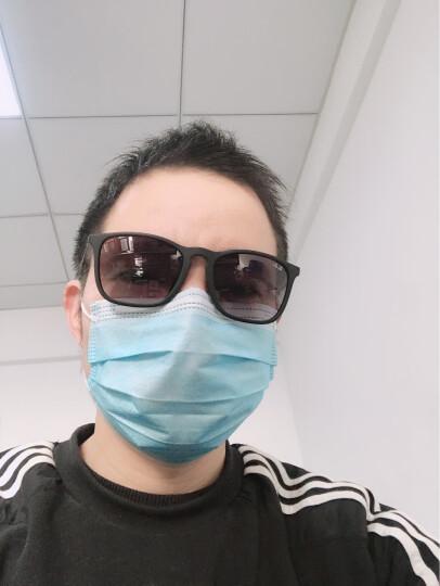RayBan 雷朋太阳眼镜方形舒适简约潮流渐变色0RB4187F 622/8G黑色镜框灰色渐变镜片 尺寸54 晒单图