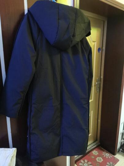 高梵 羽绒服男装2019冬季韩版时尚加厚保暖轻薄连帽中长款羽绒外套男 黑色 180/XL 晒单图