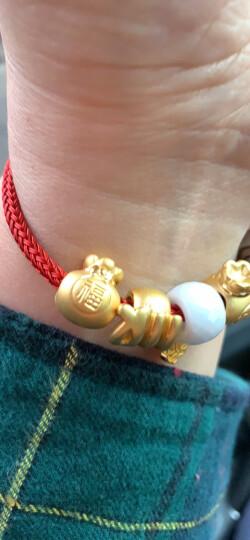本命年礼物周生生足金Charme串珠福袋金珠 黄金转运珠男女手串不含红绳手链89197C定价 晒单图