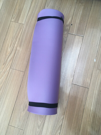 奥义瑜伽垫 加厚15mm舒适防硌健身垫 高密度防滑加长男女运动垫子 深蓝(含绑带网包) 晒单图