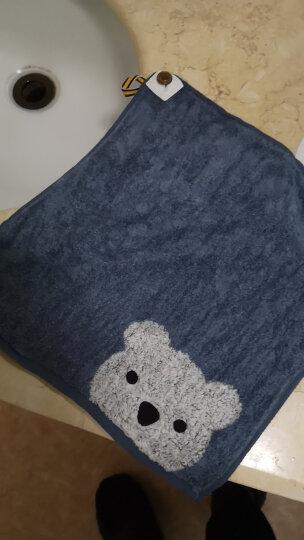 金号 毛巾家纺 A类纯棉洗脸方巾小毛巾 婴儿方巾 儿童方巾柔软吸水 卡通可爱 棕色 36g 31*31cm 晒单图