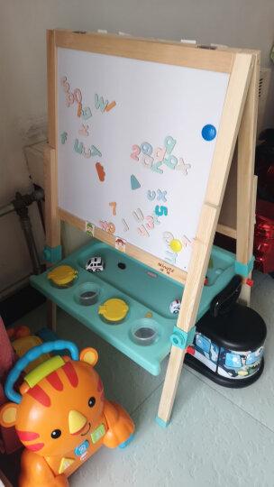铭塔实木升降双面大画板 儿童玩具男孩女孩小孩黑白板磁性写字板 绘画套装工具文具粉笔画架夹礼物 晒单图