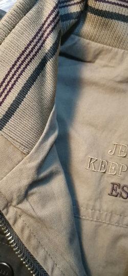吉普JEEP 春秋男士中年马甲棉质摄影钓鱼背心双面可穿休闲男装马夹宽松加大码两面穿 ZGQ036卡其-两面穿 XL 晒单图