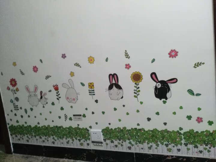 麦朵 卡通踢脚线墙贴画贴纸儿童房间卧室幼儿园墙面墙角腰线装饰品墙纸自粘 7.胖兔兔 大号 晒单图
