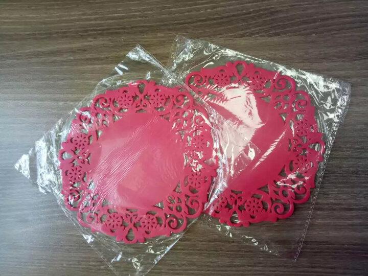HHFA 多尺寸圆形杯垫碗垫盘子垫锅垫 碟子垫子 餐桌隔热垫套装 大号粉色/直径19cm 晒单图