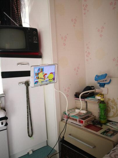 岳迩手机支架床头懒人支架看电视直播支架ipad平板电脑支架桌面夹苹果三星小米华为通用 豪华版加长款手机平板通用120cm蓝色 晒单图