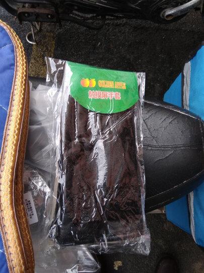 好乐宝(haolebao)女士骑车开车PU触屏手套加绒防滑手套秋冬季保暖 晒单图