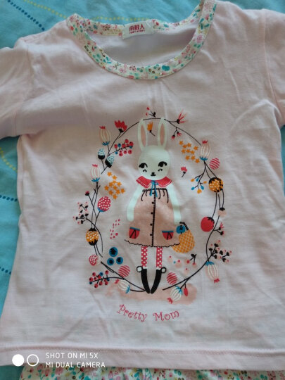 【11款】南极人儿童睡衣短袖套装男女童夏季七分裤套装宝宝外出衣服 皇冠猫头鹰 130CM 晒单图