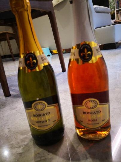 意大利原瓶进口果味甜酒 皮埃蒙特莫斯卡托桃红白750ml*2支高起泡酒 组合装 晒单图