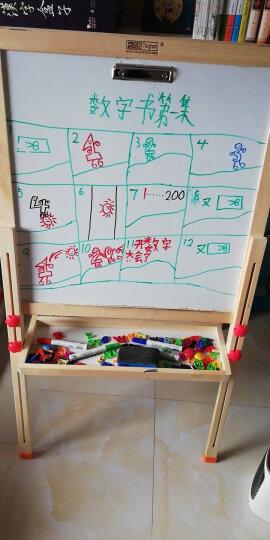 七巧板儿童画板黑板家用画架小黑板升降双面磁性画画写字板绘画套装实木白板六一儿童节礼物 京东仓发货136cm画板(送38元标准礼包) 晒单图
