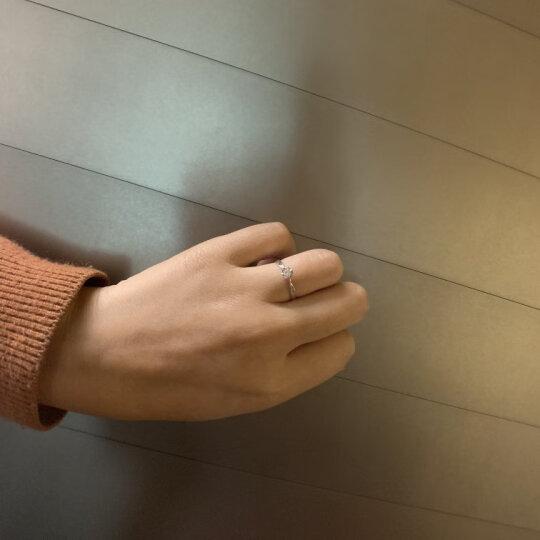 我爱钻石网 钻戒白18K金钻石戒指女款/铂金PT950求婚结婚戒指1克拉六爪钻戒定制/玫瑰情事 1.5克拉效果1克拉FG色 双倍显钻 晒单图
