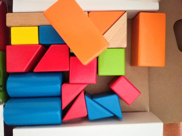 德国(Hape)积木玩具儿童拼搭拼装益智玩具1-3-6岁进口榉木儿童玩具小孩礼物80粒数字字母组合盒装 1岁+ E8022 晒单图