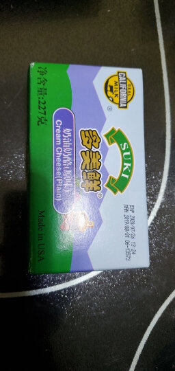 多美鲜(SUKI)奶油奶酪 原味 227g 美国进口 天然软质奶酪芝士 晒单图