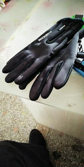 洛克兄弟(ROCKBROS) 摩托车电动车自行车骑行手套全指触屏男女款抓绒加厚开车滑雪徒步长指手套 S091-1黑色 M码(掌宽7.5-8.0cm) 晒单图
