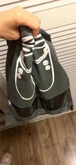 四万公里 旅行鞋袋收纳袋 无纺布8个装防水防尘鞋套盒 抽绳束口手提折叠多功能收纳包袋 SW1231 天蓝藏蓝 晒单图