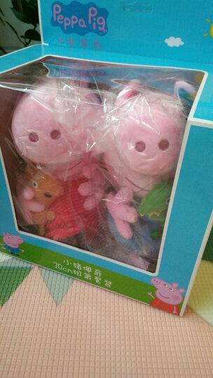 小猪佩奇(Peppa Pig)正版粉红小猪儿童玩具抱枕公仔毛绒玩具生日礼物 2只装礼盒(佩佩30cm+乔治30cm) 晒单图