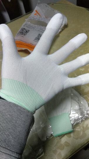 新越昌晖PU尼龙涂指手套 涂胶涂层劳保手套 防护白手套 耐磨防滑透气男女工地工作干活手套10付/M码 B11406 晒单图