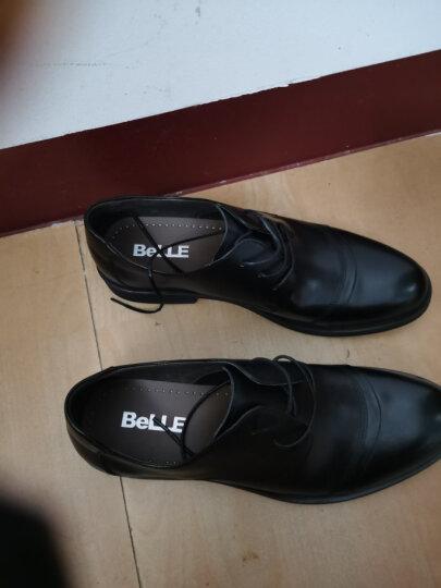 百丽男鞋商场同款牛皮系带婚鞋商务正装皮鞋3UX01CM5 棕色 41 晒单图