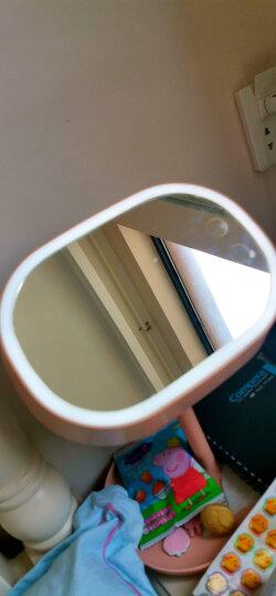 乾越(qianyue)台式LED化妆镜带灯送女友生日情人节礼物可调节灯光浪漫送老婆化妆镜白色送妈妈母亲节礼物 晒单图