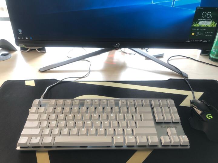 樱桃(CHERRY)MX8.0 G80-3880HYAEU-0 机械键盘 有线键盘 游戏键盘 87键背光键盘  白色 樱桃红轴 晒单图
