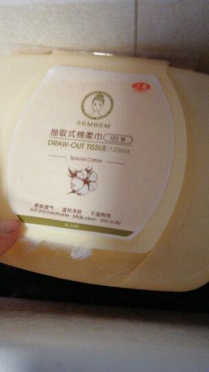 三本(SEMBEM)抽取式棉柔巾100抽(一次性洗脸巾化妆棉洗洁面巾美容巾网纹柔韧) 晒单图