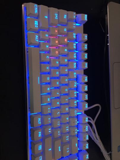 优派(ViewSonic)KU520机械键盘 有线键盘 游戏键盘 87键RGB光 吃鸡键盘 电竞小金刚系列 白银色 青轴 晒单图