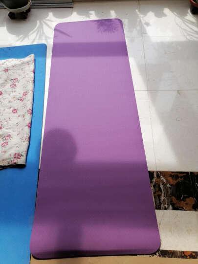 山品良造 瑜伽垫女加厚防滑TPE初学无味健身垫舞蹈运动毯子 玖红+浅粉 加宽双层1830*800*6mm 晒单图