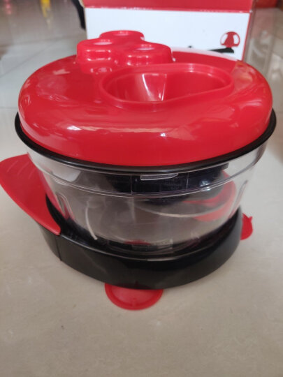 拾爱多功能切菜器手动绞肉机厨房用品土豆丝机家用切片器不锈钢削皮器 喜庆红 晒单图