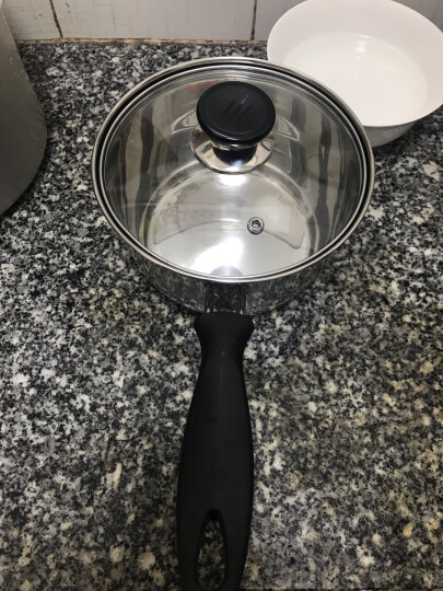 美厨(maxcook)奶锅 304不锈钢奶锅汤锅16cm 泡面煮奶辅食锅 加厚复合底 燃气炉电磁炉通用LN116 晒单图