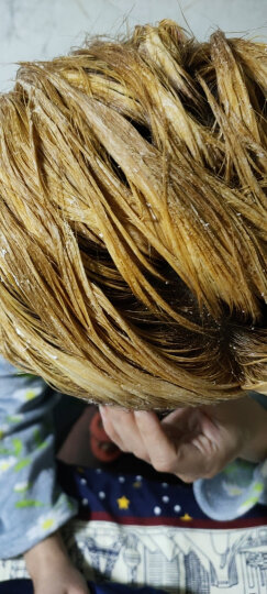 萡素 灰色染发剂奶茶灰棕染发膏闷青色染发霜色彩头发打蜡膏纯无刺激天然纯蜂蜜茶青木亚麻灰焗油染膏脏橘色 闷青色+毛白剂 晒单图
