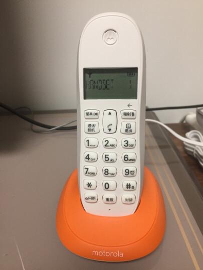 摩托罗拉(Motorola)数字无绳电话机 无线座机 单机 办公家用 来电显示 三方通话 C1001XC(橙色) 晒单图